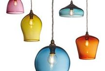 Pendants / Hand blown glass pendants. All designed by Esther Patterson and crafted in the UK.