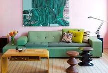 DWELL / I like a vintage-modern-comfy mix, with lots of color.  / by Clementine Cotton