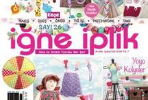 İğne İplik Magazine- TUVA PUBLISHING / Embroidery, stitching, sewing, patchwork, quilting, knitting and crochet- a leading Turkish craft magazine