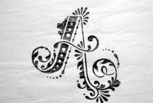 Fonts, ornaments, monograms..