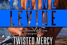 Twisted Mercy /Book #4 /Red Team by Elaine Levine. / Colorado's infamous Wall Street hacker, Max Cameron, served five years of his twenty-seven-year sentence before being recruited by the Red Team. Now a seasoned operative, Max has gone under cover in the motorcycle club of the white supremacist prison gang that befriended him in jail. His mission was simple until Hope Townsend, a female mechanic, came along and gummed-up the works.