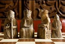 chess figures / chess figures, players, vintage chess