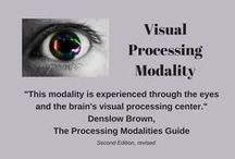 Visual Processing Modality / –This board explores organizing strategies for the visually dominant individual.  These individuals primarily process their environment through their eyes and the brain's visual processing centre.  Not all visual people are readers, an important distinction to consider when choosing visual solutions. verbal processing modality may also be at work.  Some visually-dominant people benefit from seeing the items being stored, while others value seeing order or a beautiful arrangement.