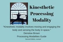Kinesthetic Processing Modality / This board explores organizing strategies for the individual who is dominant in the kinesthetic modality.  This modality involves moving and engaging the body and sensing the body in space.  It is experienced through the muscles and bones and the related nerve and brain centers. Organizing strategies involve using the body and movement to assist with the organizing task.