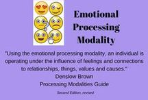 Emotional Processing Modality / This board explores organizing strategies for the emotional processor.  When using the emotional modality, an individual is operating under the influence of feelings and connections to relationships, things, values and causes.  The emotional processing modality is experienced through the heart and stomach and the emotional processing centres of the brain.  Successful organizing strategies for the emotional dominant would include those that have a positive emotional connection.