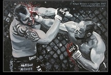 UFC Paintings / UFC, MMA fine art paintings, prints and posters.