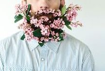 - Flower Beards - / We love this new trend of flowery, facial adornment.
