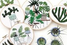 Crafts // Embroidery / Beautiful embroidery stitches, hoop art and modern embroidery designs.
