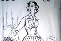 Forties'/Fifties'Fashion / Gingham prints, halter necks, wasped waists, and the New Look!