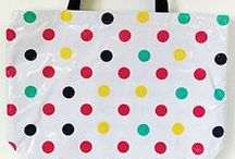 """Large Totes, perfect for everyday needs / Our original tote bag, features three interior pockets and webbing handles (21""""w X 16""""t X 7""""d)  You will LOVE these bags... they can also be monogrammed. Check out www.simplysjo.com"""