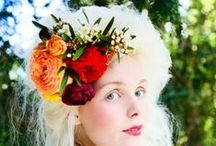 Hair flowers and garlands/circlets/crowns by Members of The British Flower Collective / 100 % British Flowers and Foliage