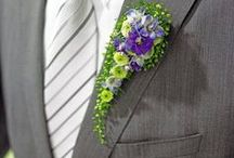 Buttonholes and Corsages from Members of The British Flower Collective / 100 % British Flowers and Foliage