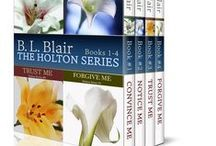 Holton Series Books / The Holton Series consists of four sweet, simple, and relatively short romance novels. They are easy to follow and easy to read.