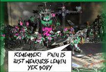 Pink Orks (Warhammer 40K) Battle Gaming / Pink Orks - Ours and Others Who Have Inspired Us http://battlegaming1.blogspot.com/p/warhammer-40k.html