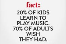 Interesting facts / facts about listening and playing music