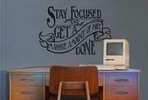 Wall Decal Inspiration / Witty and artistically amazing wall decals and infographics that we really like.