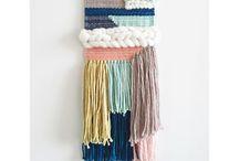 Macramé & woven wall hangings.