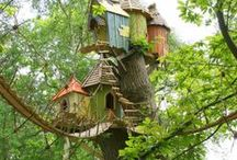 Little & Big Kids Treehouses / Treehouses appeal to the child in all of us and bring us closer to nature. Whether these structures are tiny shacks clinging to a single bough, unique treetop observatories or sprawling works of art spanning several trees, there's something magical about treehouses.