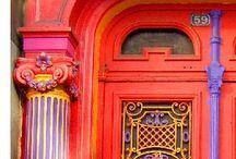 come in / Gorgeous doors, open doors, decorated doors, welcoming doors, mad doors, wacky doors. And more doors.