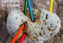 CORAZON DE PIEDRA pencil`s holders / Handcraft stone art