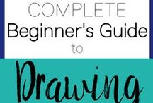 Drawing for Beginners / The Curiously Creative explores a new art & crafts hobby each month! Here you can find drawing resources to supplement our guide on how to draw! Check out our website for a 4-week learning schedule that will teach you the basics of drawing.
