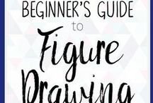 How to Draw People / The Curiously Creative explores a new art & crafts hobby each month! Here you can find drawing resources to supplement our guide on how to draw people! Check out our website for a 4-week learning schedule that will teach you the basics of drawing.