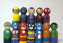 Bambole in legno