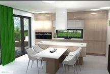 kuchyň a obývák v odstínech hnědé - očkodesign / Petr Molek očkodesign - interiérový design 737 16 76 76 www.ockodesign.cz