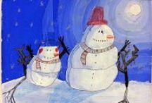 kuvaamataito, lumiukkoja