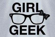 geek girl / I'm not a nerd. I am a geek! And I'm proud :) / by brittney a