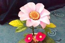 My nylonflowers / Handmade nylonflowers
