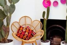 Bohemian Chic / Who says your hippie-haven can't also be chic? Pillows, patterns, and an excess of weather-worn furniture equals perfect bohemian style