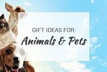 Gift Ideas for Animals & Pets / Treat your furry friends with some amazing toys, treats and accessories. These animal and pet gifts will have your pet more spoiled than ever.