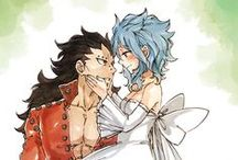Fairy Tail - Gajeel x Levy (Gale) / I really not ship them, but I like these pictures.