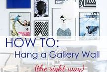 HOW TO   Hang A Gallery Wall / For art lovers and creative types, gallery walls can be a great way to showcase artwork in your space. If you have an empty wall behind your couch or in your bedroom, filling the wall with artwork can instantly add personality to your space.