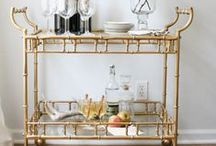 HOW TO   Style A Bar Cart / When it comes to hosting, one of the easiest ways to step your game up is by having a chicly designed (and fully stocked) bar cart. Extremely versatile, a bar cart can suit your needs for any event, not just happy hour in the office (though Don Draper would disagree).