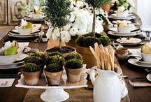 Rustic  Events / We love rough fabrics and the casual, yet elegant events!