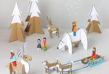 Noël / Bricolages de Noël, décoration de table, couronnes de fêtes, sapins originaux et insolites, toute nos inspirations de Noël