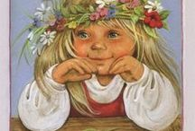 матрешки и художник Lyudmila Romanova / матрешки