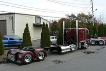 Long Wheel Base Big Rigs / We like 'em looking long and cool. These big rigs are sporting a nice long wheel-base, some for practicality, some just for the look of cool! / by Smart Trucking