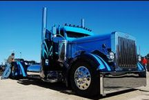 Custom Peterbilt Trucks / There's nothing quite so fine, as a custom Peterbilt, done up right. We like 'em with chrome, lights and a hot paint job.   COOL, starts with a Pete! / by Smart Trucking