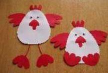 Kleuters: Lente- en paasideeën  / Van eieren tot kippen en van bollen tot bloemen knutselen en ideeën / by Irene van Leeuwen