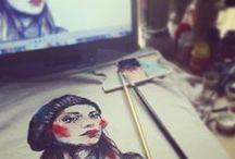 -Angela Varani TS-  TShirt dipinte a mano - handmade TShirt / quando un'illustrazione si può anche indossare!!! :D