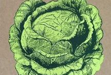 Vegetable Art / Whats better than making pictures with veggies?
