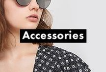 (Access)ories / Nail that finishing touch with our new season accessory range. Festival-goers will want to seek out our faux leather rucksacks - perfect for a few away-from-the-tent essentials - while 9-5ers will love our new embroidered handbags. As for that holiday away, channel throw-back vibes in a pair of aviator sunglasses or draw on our SS17 jewellery collection, whether it's a choker necklace or pair of oversized hoop earrings.