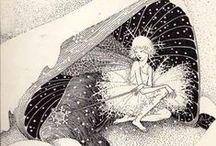 Inspiración: Hadas / Cogiendo un poquito de inspiración de aquí y allá para mis cuentos de hadas ilustrados