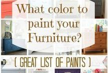 DIY   Chalk Paint Projects /  Using chalk paint to transform furniture and accessories.