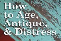 DIY   Distressing Furniture / Different ways to distress furniture.
