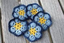 African flowers - crocheting