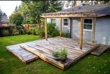 Cedar Decks / Browse the collection of beautiful cedar decks built by Rick's Custom Fencing & Decking.